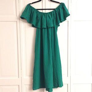 Catherine Malandrino emerald ots dress